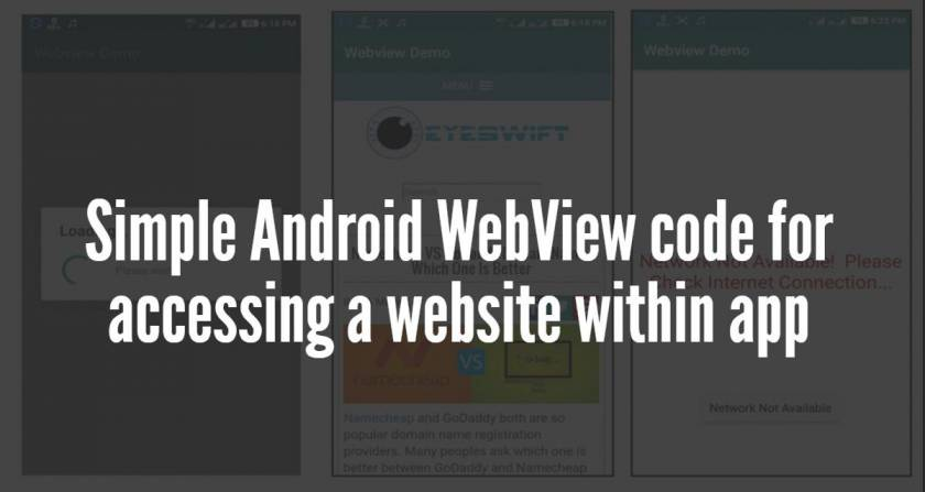 Simple Android WebView code for accessing a website within app