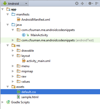 Android WebView code to load local HTML file - CodeSpeedy