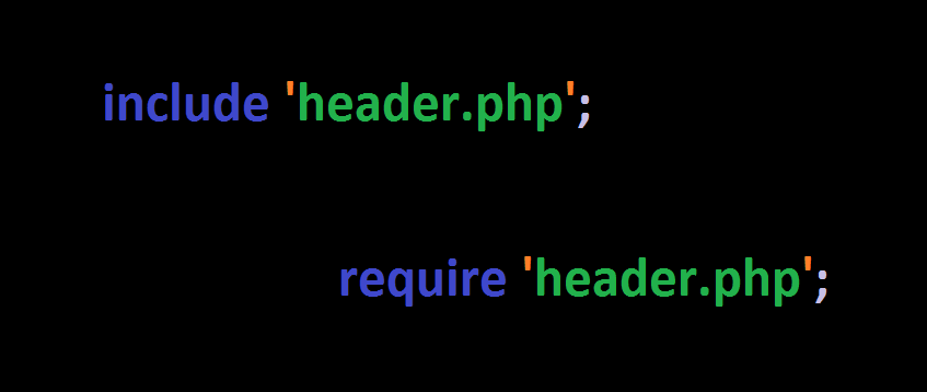 Difference between PHP include and require satements