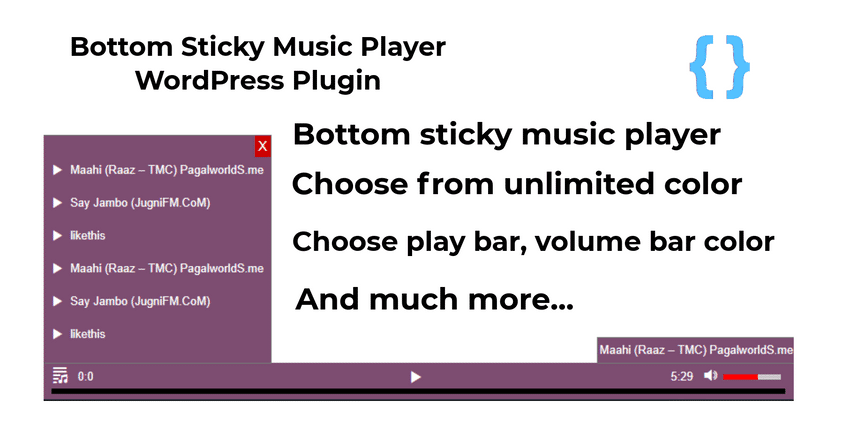 WordPress Bottom Sticky Music Player Plugin
