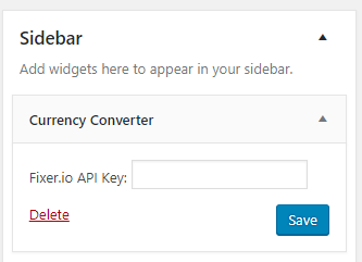 Currency converter widget backend