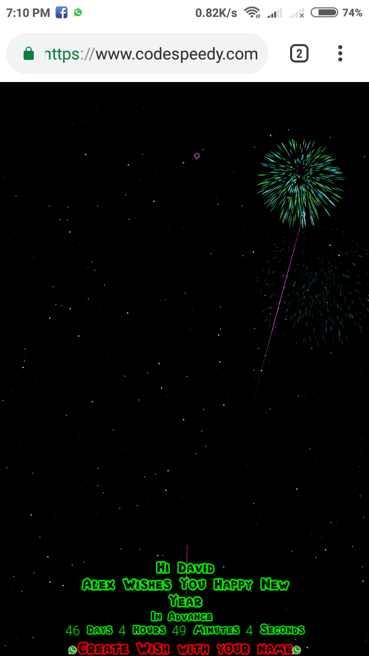 happy new year php script screenshot