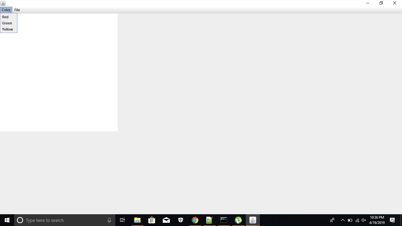 create a menu bar on the frame in Java swing