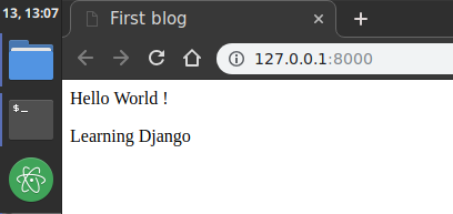 create template in django