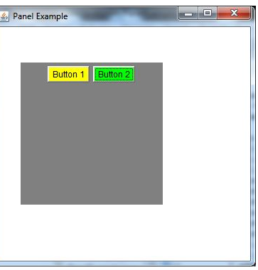 panel in Java using applet