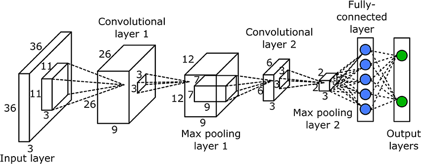 convolutional layers of an image - Deep learning Machine learning