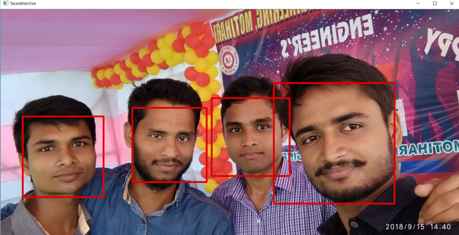 detect number of faces in an image using OpenCV Python