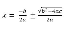 quadratic equation formula c++