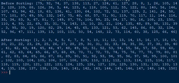 TimSort Algorithm in Python