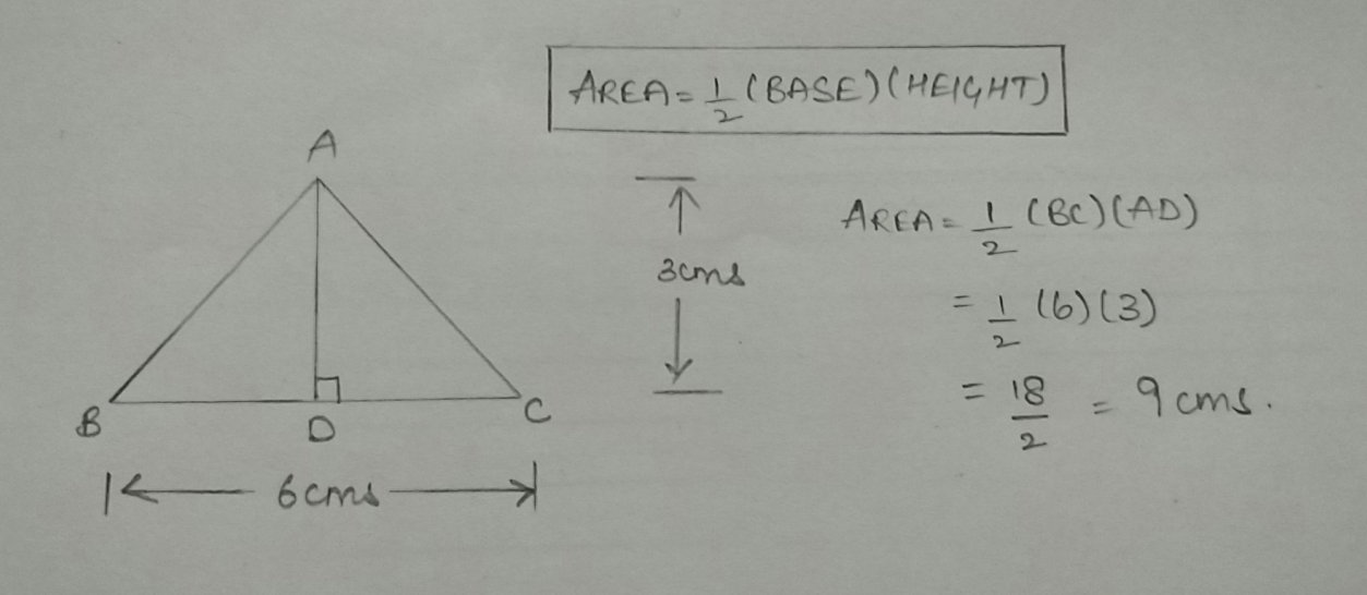 Area of a triangle in Java