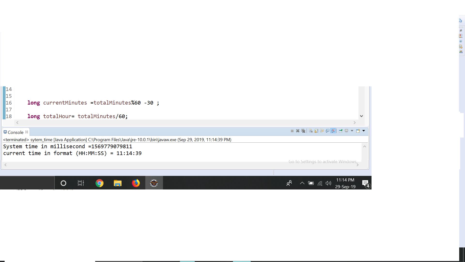currentTimeMillis() Function In Java