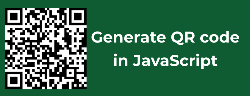 Generate QR code in JavaScript