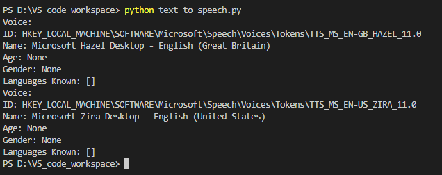 Text-To-Speech conversion in Python