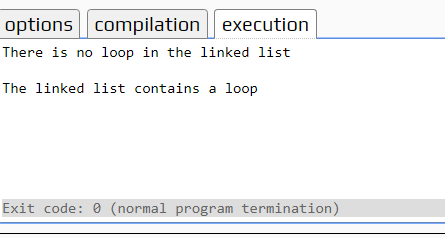 detect a loop in a linked list in C++