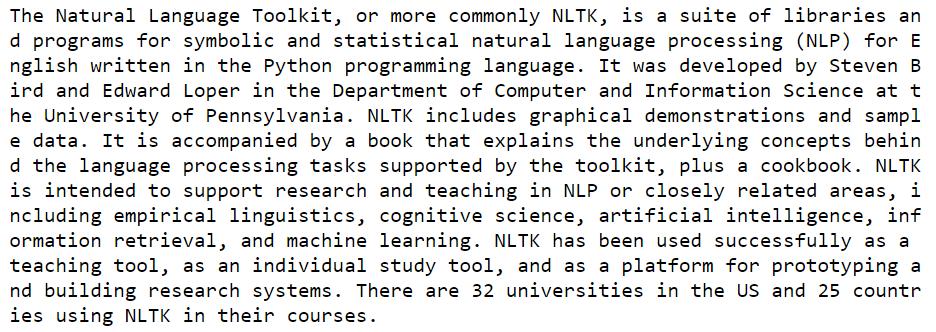 NLTK Python tutorial