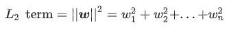 L2 regularization