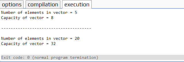 How to use Vector capacity function in C++
