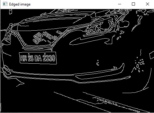 edge detection of car front