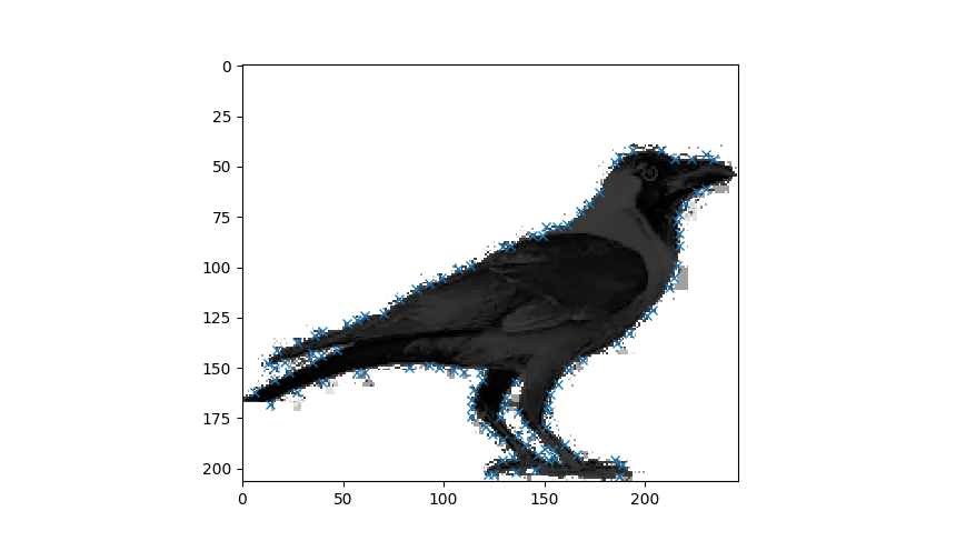 Extracting points of Interest from an Image and Preprocessing