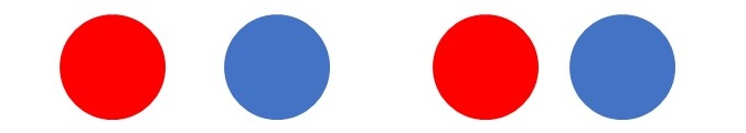 red blue circles