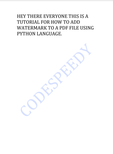 watermarking to pdf