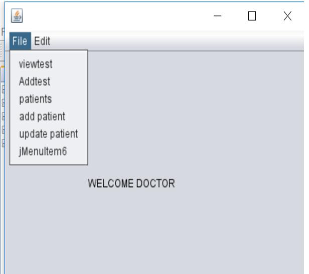 hosiptal managemnet system in Java doctor dashboard