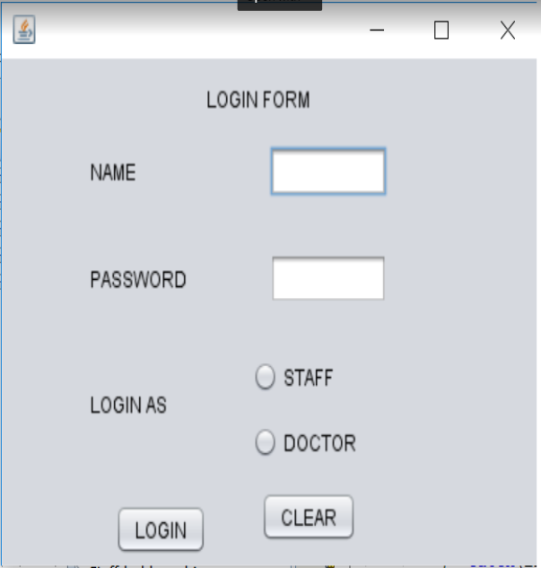 hosiptal managemnet system in Java