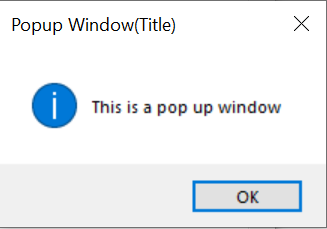 create a popup window in Tkinter in Python
