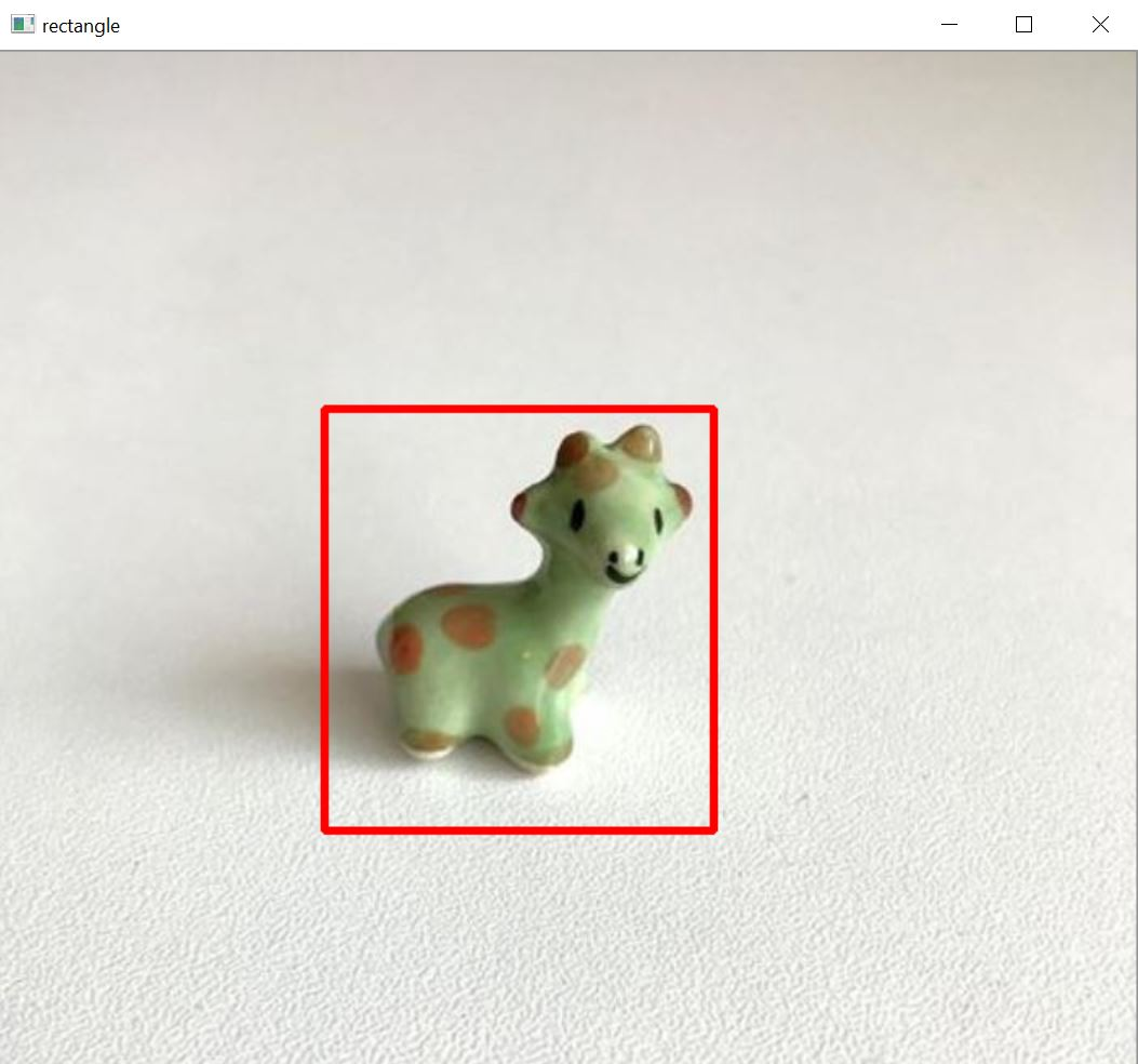 Draw a rectangle on an image in Python using OpenCV