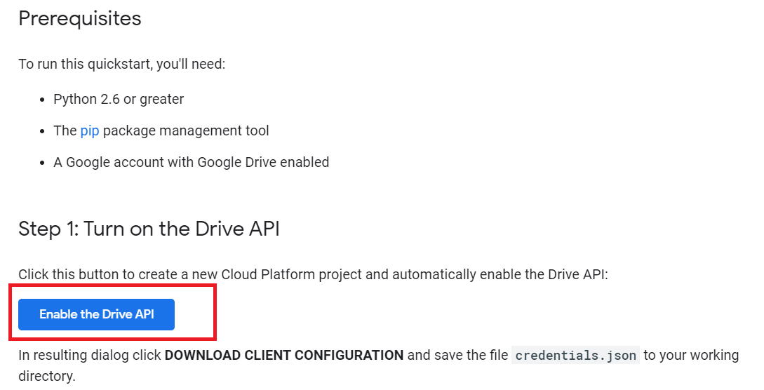 Upload file to google drive using Python