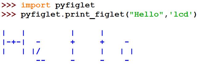 figlet in Python