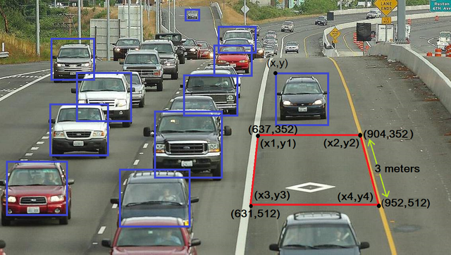 Detect speed of a car with OpenCV in Python