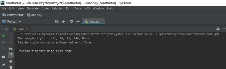 check if a tuple has any None value in Python