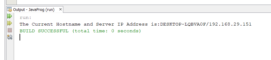 Java Program to get the Server IP Address and Hostname
