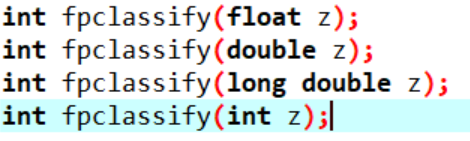 fpclassify() in C++ syntax
