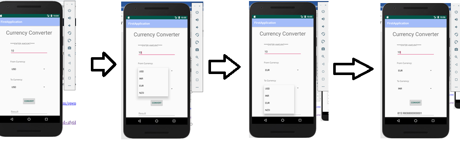 Create real time currency converter app in Android Studio