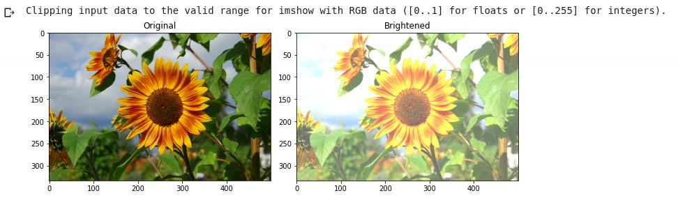 Increasing Brightness of image in python