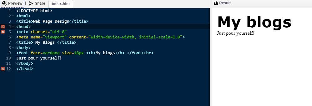 web design in HTML