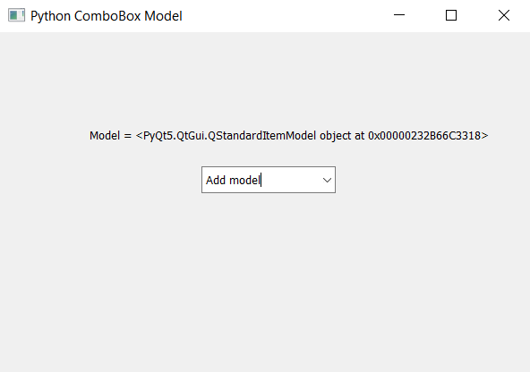 ComboBox Model Output