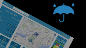 Blue AJAX Weather Forecast PHP Script