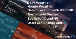Dark Sky Weather Forecast PHP Script screenshot