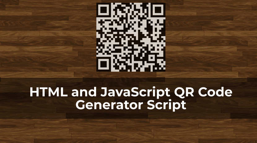 HTML and JavaScript QR Code Generator Script